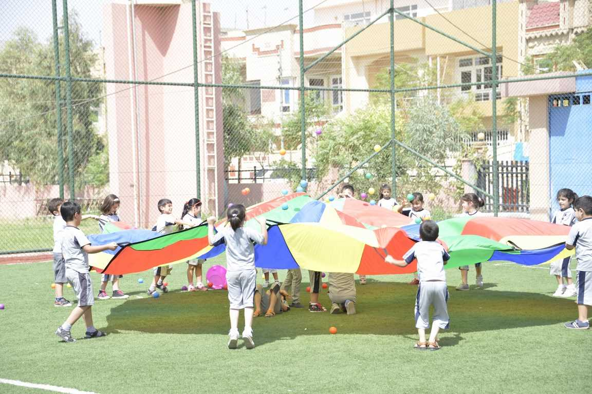 Grade 1 Participates in Parachute Day at Sarwaran International School