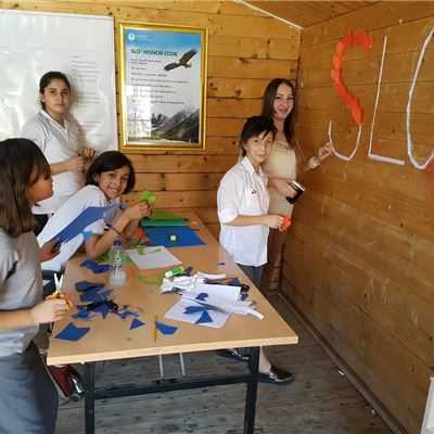 Sarwaran Students Decorate the SLO® Room