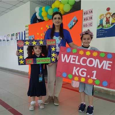 KG STUDENTS' FIRST DAY OF SCHOOL AT SARWARAN INTERNATIONAL SCHOOL