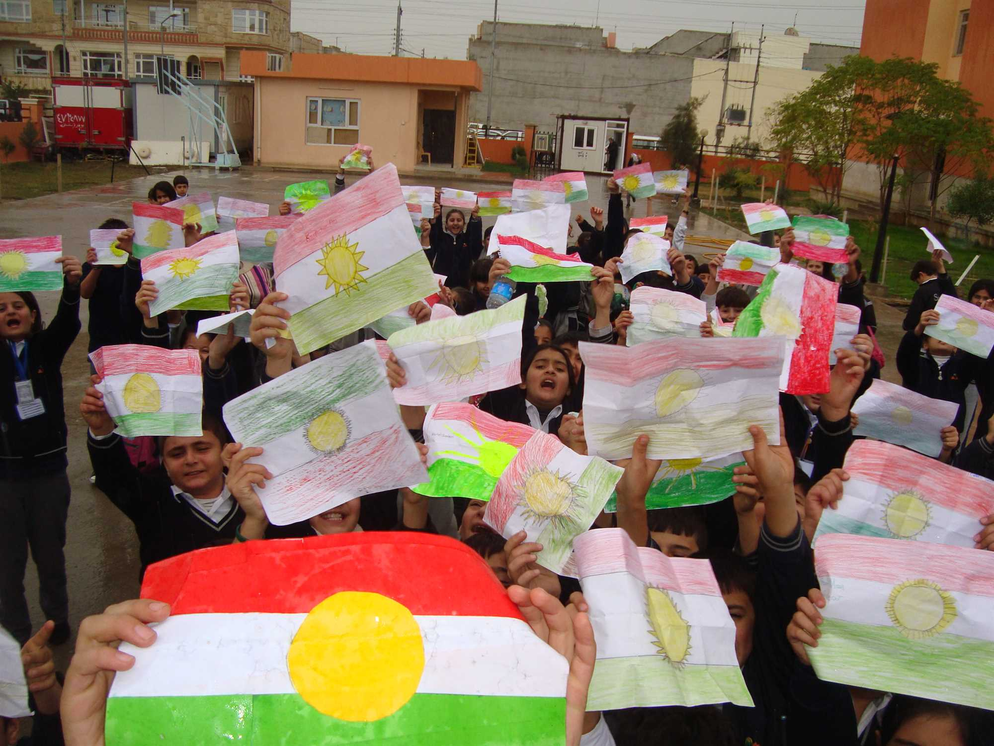 Sarwaran International School Marks Kurdish Flag Day