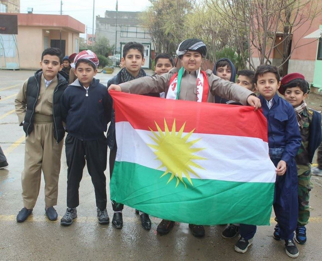 Sarwaran Students Celebrate Kurdish Flag Day